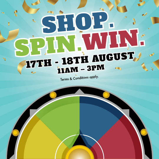 Shop Spin Win!  Terms & Conditions