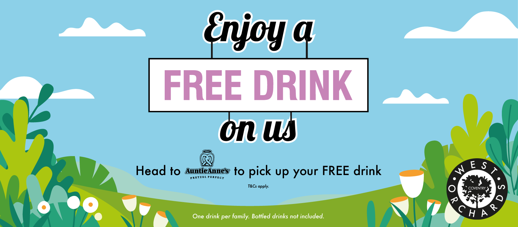 Free DRINK from Auntie Anne's