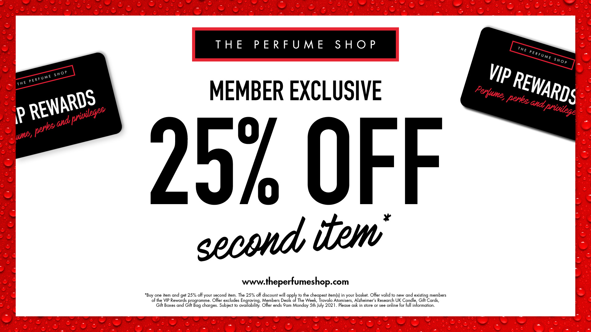 Members receive 25% off second item. Sign up today and visit us in store. @theperfumeshop